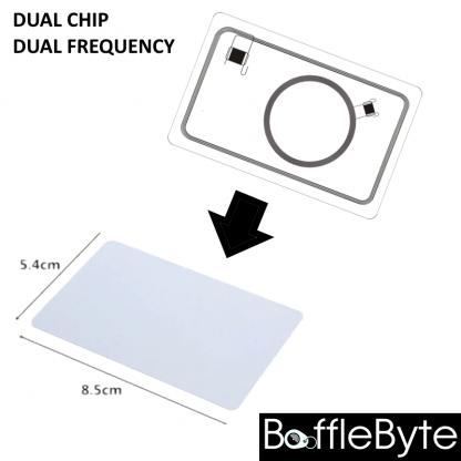 Dual Frequency Dual Chip Blank RFID Card